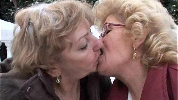 Two lesbian grandmothers having hard sex