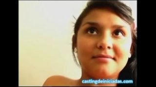Mexican schoolgirl fulfills her fantasy of making a trio