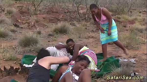 100% real hardcore sex during a safari in Africa